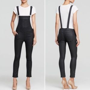 Black Orchid Pants - Black Orchid Skinny Overalls Black Coated 30